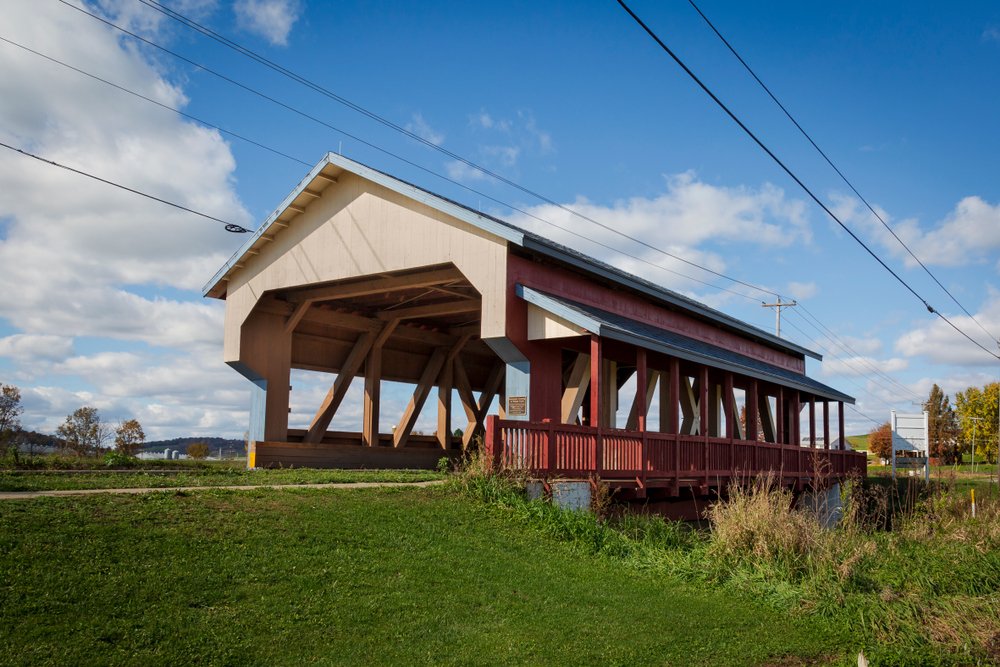 Covered bridge in Ohio Amish Country