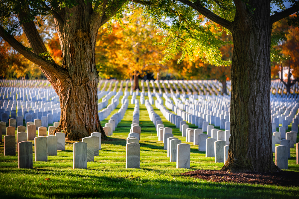 The headstones at Dayton National Cemetery, a solemn national park in Ohio.