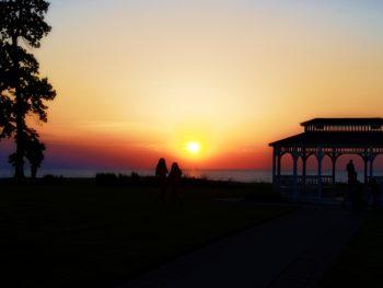 Romantic sunset with gazebo in Geneva Ohio