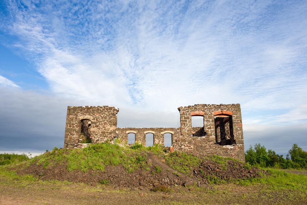 Abandoned factory ruins at the Keweenaw National Historic Park
