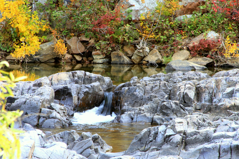 The Johnson Shut-ins on a sunny fall day during a Midwest road trips.