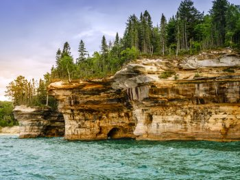 pictured rocks lakeshore national park in Michigan