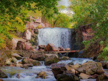 beautiful cascading waterfalls in Minnesota