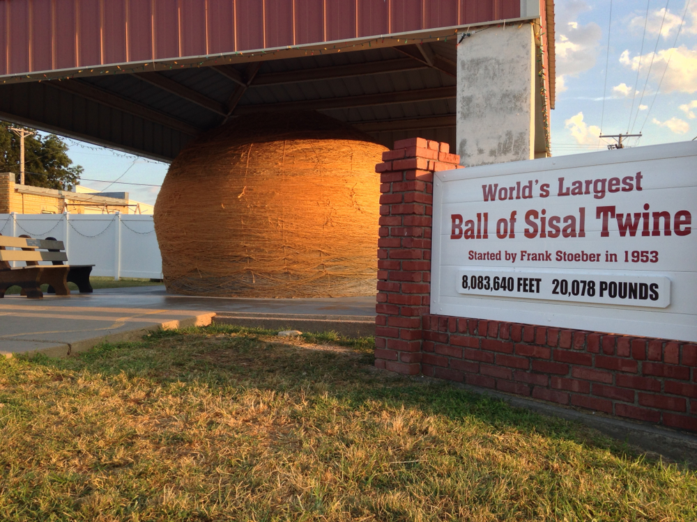 The World's the Largest Ball of Twine a roadside attraction in Kansas one of the best hidden gems in the Midwest