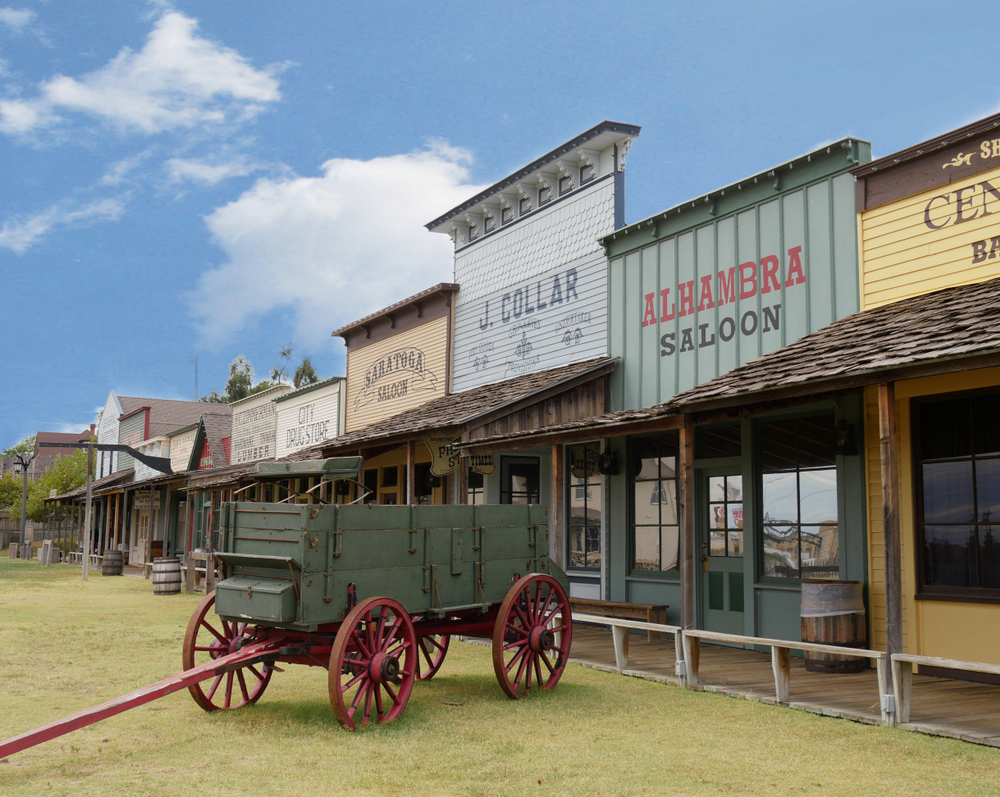 An old wagon in a wild wild west town, Boot Hill is one of the things to do in Kansas
