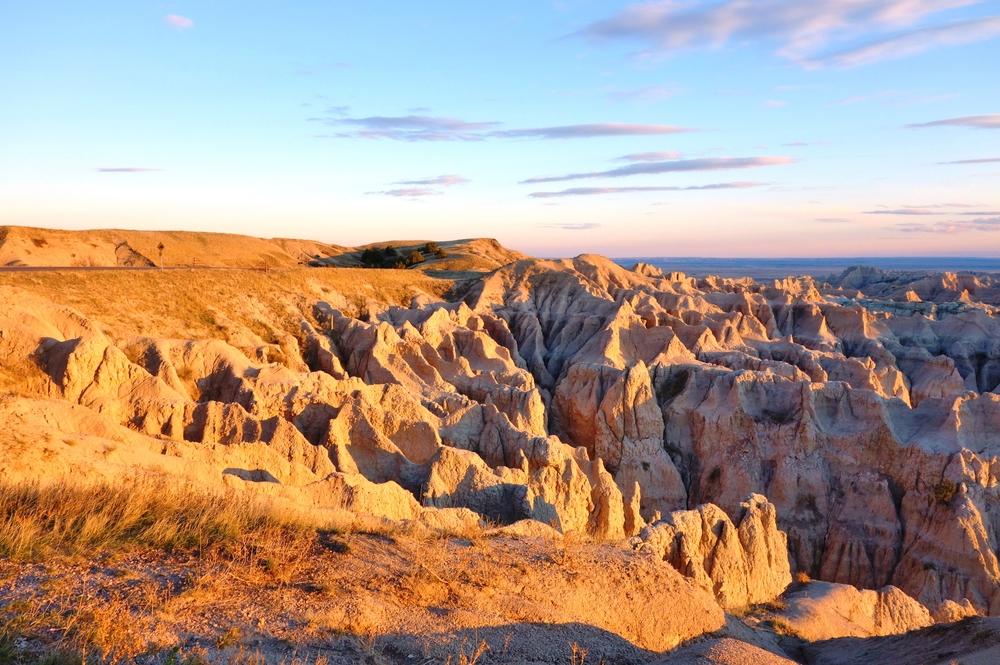 These sweeping viewsof surreal jagged yellow rocks of Badlands National Park show it is one of the best things to do in South Dakota.