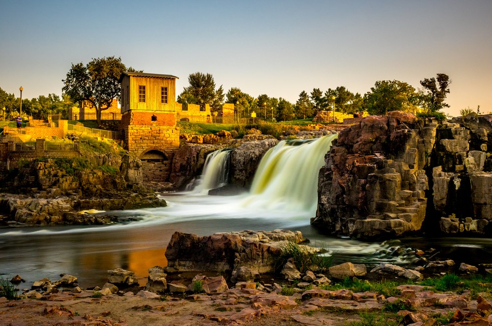 The waterfall that Sioux Falls is known for is one of the best things to do in South Dakota.