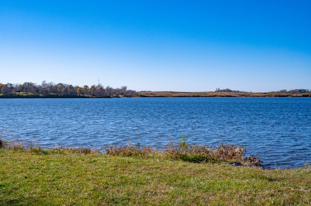 The beautiful, blue Big Creek Lake.