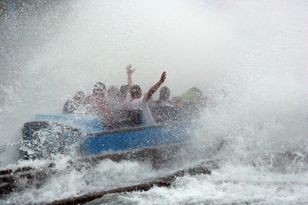 A water ride at Six Flags.