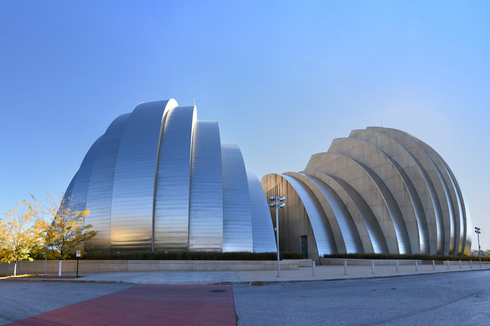 The exterior of the Kauffman Center, one of the best things to do in KCMO.