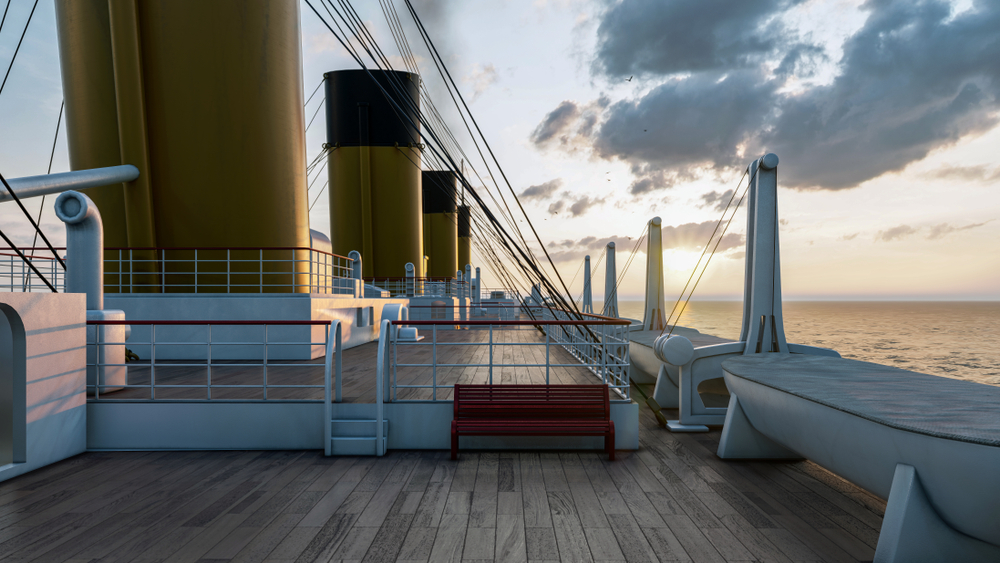 A 3D render of the deck of Titanic. Visiting the Titanic Museum is one of the things to do in Branson