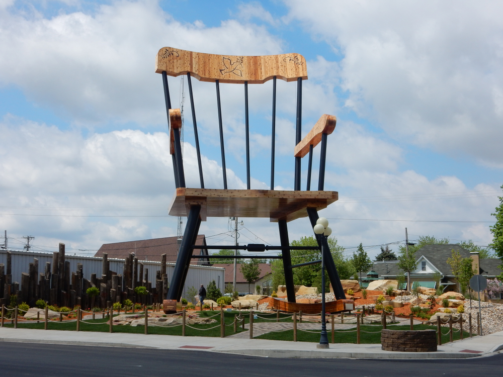 The world's largest rocking chair in Casey, one of the coolest small towns in Illinois.