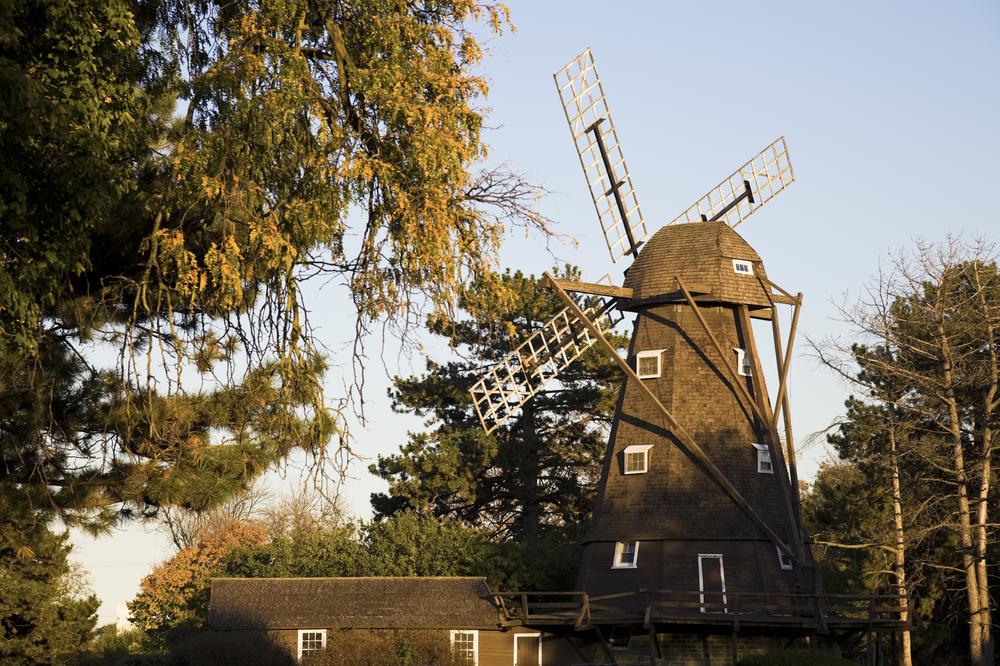 The Fischer Windmill in Elmhurst, Illinois.