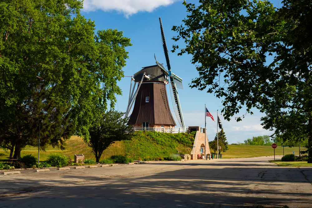 The Fulton windmill looking picture perfect.