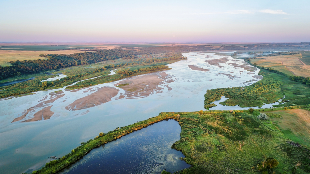 Blue river stream flowing through plains things to do in nebraska